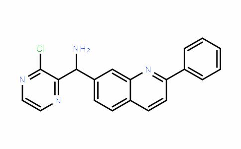 (3-chloropyrazin-2-yl)(2-phenylquinolin-7-yl)methanamine