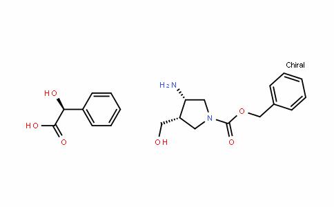 (3S,4S)-benzyl 3-amino-4-(hyDroxymethyl)pyrroliDine-1-carboxylate (S)-2-hyDroxy-2-phenylacetate