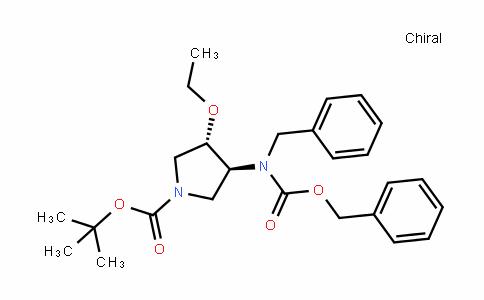 (3S,4S)-Tert-butyl 3-(benzyl(benzyloxycarbonyl)amino)-4-ethoxypyrroliDine-1-carboxylate