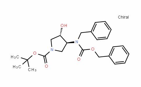 (3S,4S)-Tert-butyl 3-(benzyl(benzyloxycarbonyl)amino)-4-hyDroxypyrroliDine-1-carboxylate