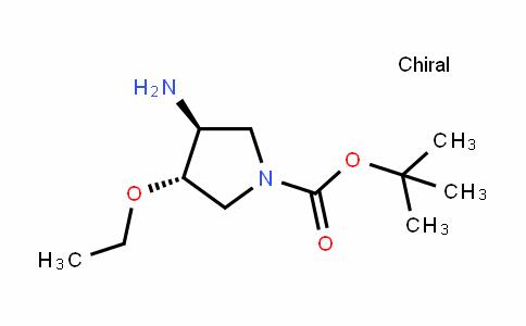 (反)-3-氨基-4-乙氧基-1-吡咯烷羧酸叔丁酯