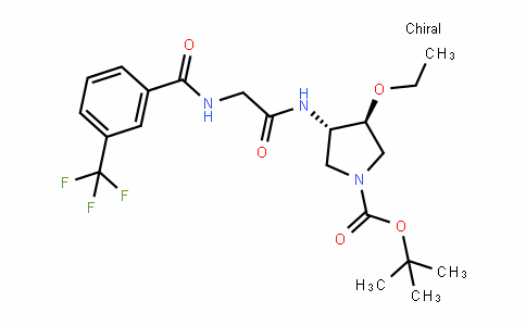 (3S,4S)-Tert-butyl 3-ethoxy-4-(2-(3-(trifluoromethyl)benzamiDo)acetamiDo)pyrroliDine-1-carboxylate