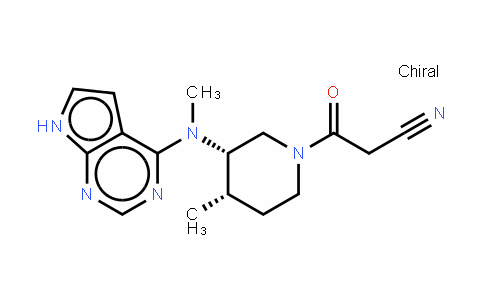 (3S,4S)-4-甲基-3-(甲基-7H-吡咯并[2,3-D]嘧啶-4-氨基)-BETA-氧代-1-哌啶丙腈