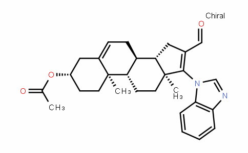 (3S,8R,9S,10R,13S,14S)-17-(1H-benzo[D]imiDazol-1-yl)-16-formyl-10,13-Dimethyl-2,3,4,7,8,9,10,11,12,13,14,15-DoDecahyDro-1H-cyclopenta[a]phenanthren-3-yl acetate