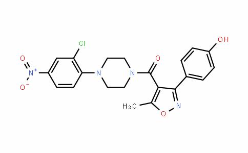 (4-(2-chloro-4-nitrophenyl)piperazin-1-yl)(3-(4-hyDroxyphenyl)-5-methylisoxazol-4-yl)methanone