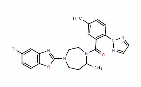 (4-(5-chlorobenzo[D]oxazol-2-yl)-7-methyl-1,4-Diazepan-1-yl)(5-methyl-2-(2H-1,2,3-triazol-2-yl)phenyl)methanone