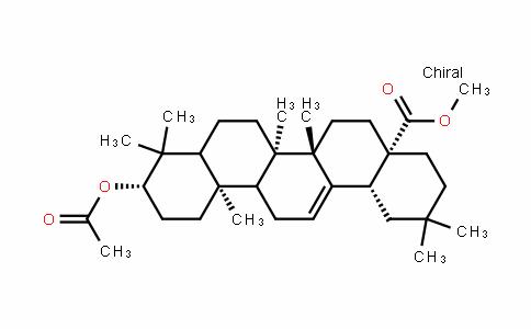 (4aS,6aS,6bR,10S,12aR,14bR)-methyl 10-acetoxy-2,2,6a,6b,9,9,12a-heptamethyl-1,2,3,4,4a,5,6,6a,6b,7,8,8a,9,10,11,12,12a,12b,13,14b-icosahyDropicene-4a-carboxylate