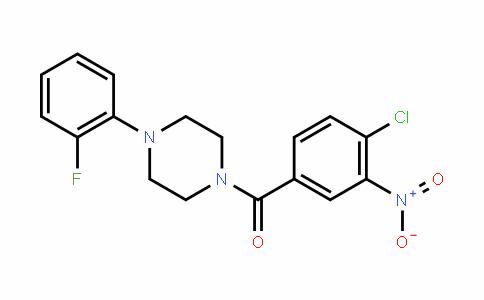 (4-Chloro-3-nitrophenyl)(4-(2-fluorophenyl)piperazin-1-yl)methanone