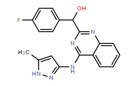 (4-fluorophenyl)(4-((5-methyl-1H-pyrazol-3-yl)amino)quinazolin-2-yl)methanol