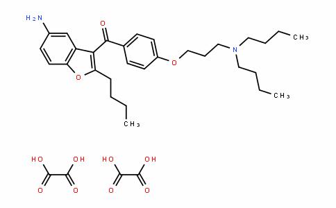 (5-amino-2-butylbenzofuran-3-yl)(4-(3-(Dibutylamino)propoxy)phenyl)methanone Dioxalate