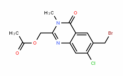 (6-(bromomethyl)-7-chloro-3-methyl-4-oxo-3,4-DihyDroquinazolin-2-yl)methyl acetate