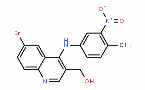 (6-bromo-4-((4-methyl-3-nitrophenyl)amino)quinolin-3-yl)methanol