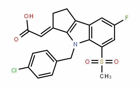 (E)-2-(4-(4-chlorobenzyl)-7-fluoro-5-(methylsulfonyl)-1,2-DihyDrocyclopenta[b]inDol-3(4H)-yliDene)acetic acid