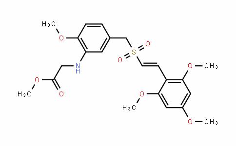 (E)-2,4,6-Trimethoxystyryl 3-(carbomethoxymethylamino)-4-methoxybenzyl sulfone