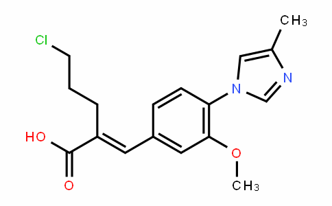 (E)-5-chloro-2-(3-methoxy-4-(4-methyl-1H-imiDazol-1-yl)benzyliDene)pentanoic acid