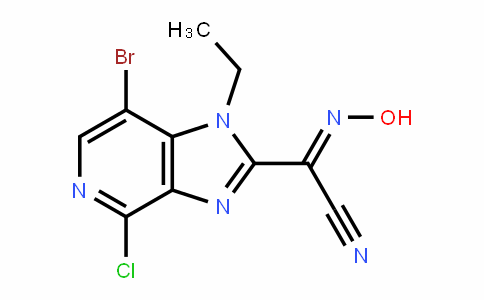 (E)-7-bromo-4-chloro-1-ethyl-N-hyDroxy-1H-imiDazo[4,5-c]pyriDine-2-carbimiDoyl cyaniDe