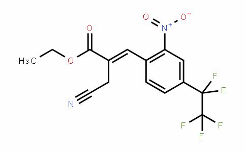 (E)-ethyl 2-(cyanomethyl)-3-(2-nitro-4-(perfluoroethyl)phenyl)acrylate