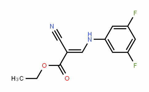 (E)-ethyl 2-cyano-3-(3,5-Difluorophenylamino)acrylate
