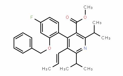 (E)-methyl 4-(2-(benzyloxy)-4-fluorophenyl)-2,6-Diisopropyl-5-(prop-1-enyl)nicotinate