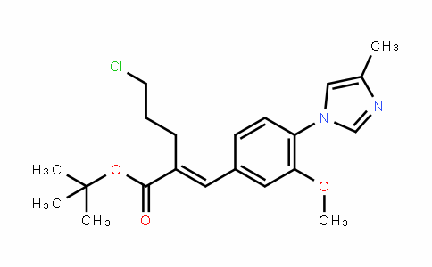 (E)-Tert-butyl 5-chloro-2-(3-methoxy-4-(4-methyl-1H-imiDazol-1-yl)benzyliDene)pentanoate