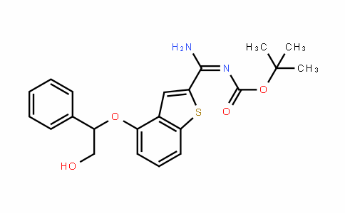 (E)-Tert-butyl amino(4-(2-hyDroxy-1-phenylethoxy)benzo[b]thiophen-2-yl)methylenecarbamate