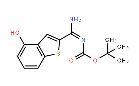 (E)-Tert-butyl amino(4-hyDroxybenzo[b]thiophen-2-yl)methylenecarbamate