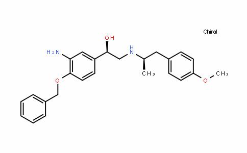 (R)-1-(3-amino-4-(benzyloxy)phenyl)-2-(((R)-1-(4-methoxyphenyl)propan-2-yl)amino)ethanol