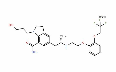 (R)-1-(3-hyDroxypropyl)-5-(2-((2-(2-(2,2,2-trifluoroethoxy)phenoxy)ethyl)amino)propyl)inDoline-7-carboxamiDe