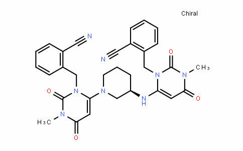(R)-2-((6-(3-((3-(2-cyanobenzyl)-1-methyl-2,6-Dioxo-1,2,3,6-tetrahyDropyrimiDin-4-yl)amino)piperiDin-1-yl)-3-methyl-2,4-Dioxo-3,4-DihyDropyrimiDin-1(2H)-yl)methyl)benzonitrile