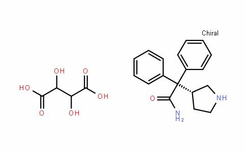 (R)-2,2-Diphenyl-2-(pyrroliDin-3-yl)acetamiDe 2,3-DihyDroxysuccinate