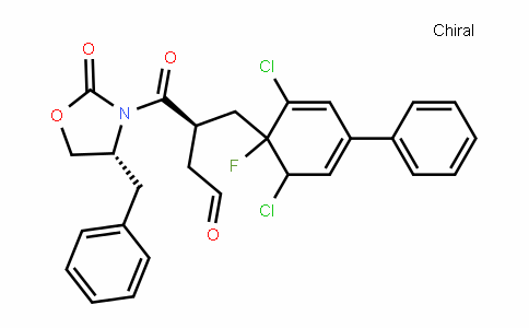 (R)-4-((R)-4-benzyl-2-oxooxazoliDin-3-yl)-3-((3,5-Dichloro-4-fluoro-[1,1-biphenyl]-4-yl)methyl)-4-oxobutanal