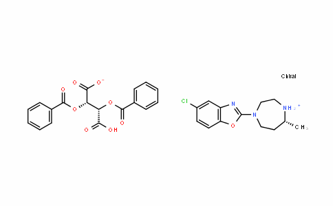 (R)-4-(5-chlorobenzo[D]oxazol-2-yl)-7-methyl-1,4-Diazepan-1-ium (2S,3S)-2,3-bis(benzoyloxy)-3-carboxypropanoate