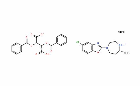 (5R)-4-(5-氯-1,3-苯并恶唑-2-基)-5-甲基-1,4-二氮杂环庚烷.D-二苯甲酰基酒石酸盐
