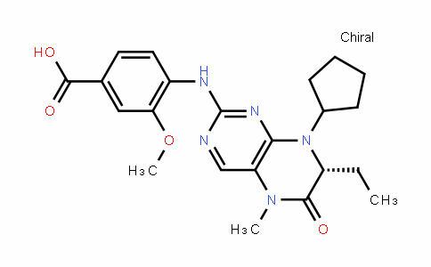 (R)-4-(8-cyclopentyl-7-ethyl-5-methyl-6-oxo-5,6,7,8-tetrahyDropteriDin-2-ylamino)-3-methoxybenzoic acid