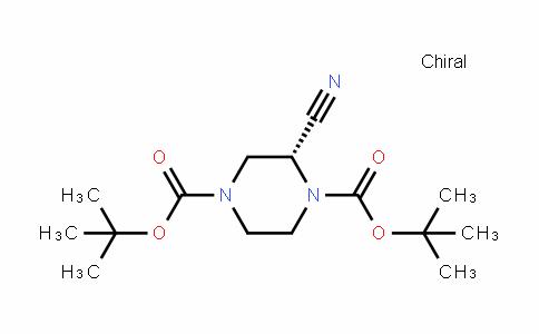 (R)-Di-Tert-butyl 2-cyanopiperazine-1,4-Dicarboxylate