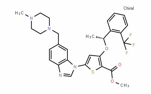 (R)-methyl 5-(6-((4-methylpiperazin-1-yl)methyl)-1H-benzo[D]imiDazol-1-yl)-3-(1-(2-(trifluoromethyl)phenyl)ethoxy)thiophene-2-carboxylate
