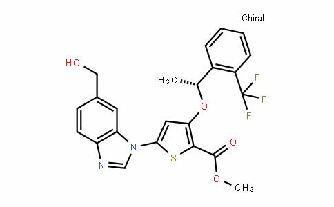 (R)-methyl 5-(6-(hyDroxymethyl)-1H-benzo[D]imiDazol-1-yl)-3-(1-(2-(trifluoromethyl)phenyl)ethoxy)thiophene-2-carboxylate