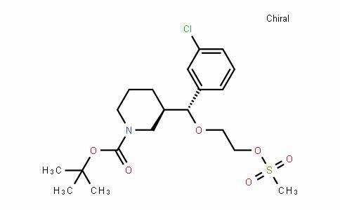 3-[(3-CHLORO-PHENYL)-(2-mETHANESULFONYLOXY-ETHOXY)-mETHYL]-PIPERIDINE-1-CARBOXYLIC acid Tert-BUTYL ESTER
