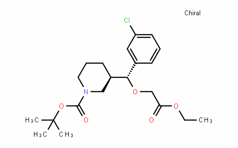 (R)-Tert-butyl 3-((R)-(3-chlorophenyl)(2-ethoxy-2-oxoethoxy)methyl)piperiDine-1-carboxylate