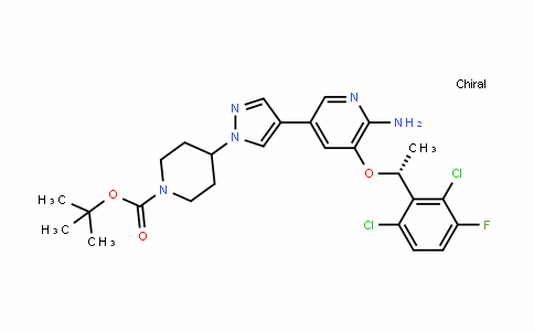 (R)-Tert-butyl 4-(4-(6-amino-5-(1-(2,6-Dichloro-3-fluorophenyl)ethoxy)pyriDin-3-yl)-1H-pyrazol-1-yl)piperiDine-1-carboxylate