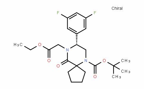(R)-Tert-butyl 8-(3,5-Difluorophenyl)-9-(2-ethoxy-2-oxoethyl)-10-oxo-6,9-Diazaspiro[4.5]Decane-6-carboxylate