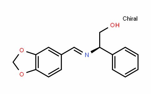 (R,E)-2-(benzo[D][1,3]Dioxol-5-ylmethyleneamino)-2-phenylethanol