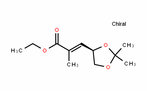 (R,E)-ethyl 3-(2,2-Dimethyl-1,3-Dioxolan-4-yl)-2-methylacrylate