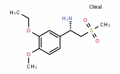 (S)-1-(3-ethoxy-4-methoxyphenyl)-2-(methylsulfonyl)ethanamine