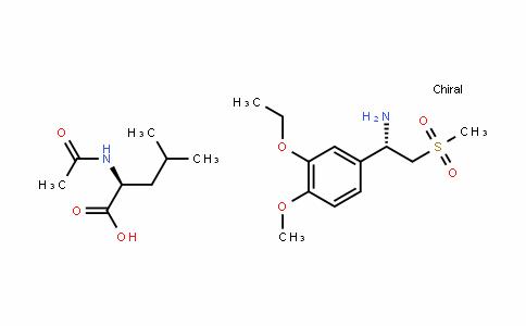 (S)-1-(3-Ethoxy-4-methoxyphenyl)-2-(methylsulfonyl)ethylamine N-acetyl-L-leucine salt