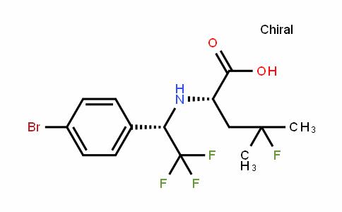 (S)-2-((S)-1-(4-bromophenyl)-2,2,2-trifluoroethylamino)-4-fluoro-4-methylpentanoic acid