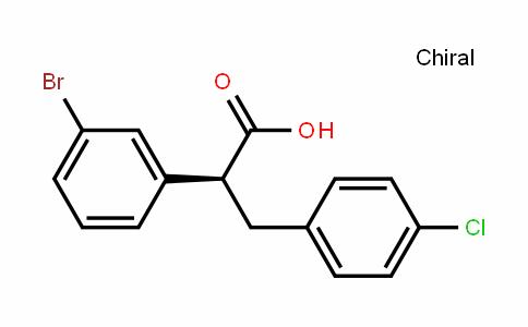 (S)-2-(3-bromophenyl)-3-(4-chlorophenyl)propanoic acid