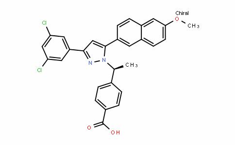 (S)-4-(1-(3-(3,5-Dichlorophenyl)-5-(6-methoxynaphthalen-2-yl)-1H-pyrazol-1-yl)ethyl)benzoic acid