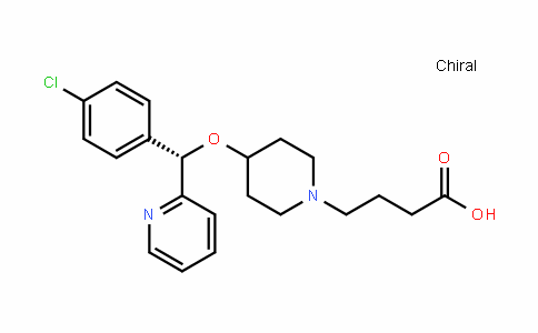 (S)-4-(4-((4-chlorophenyl)(pyriDin-2-yl)methoxy)piperiDin-1-yl)butanoic acid