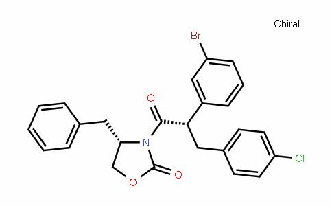 (S)-4-benzyl-3-((S)-2-(3-bromophenyl)-3-(4-chlorophenyl)propanoyl)oxazoliDin-2-one